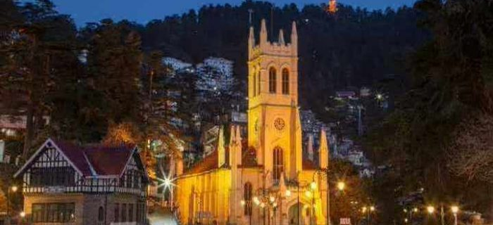 Christ_Church_Shimla_at_night